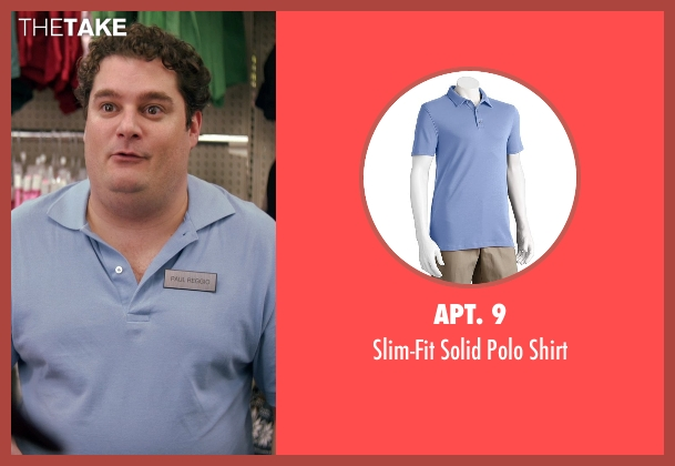 Apt. 9 purple shirt from Adult Beginners seen with Bobby Moynihan (Paul Reggio)