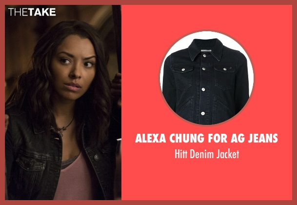 Alexa Chung For AG Jeans black jacket from The Vampire Diaries seen with Bonnie Bennett (Kat Graham)