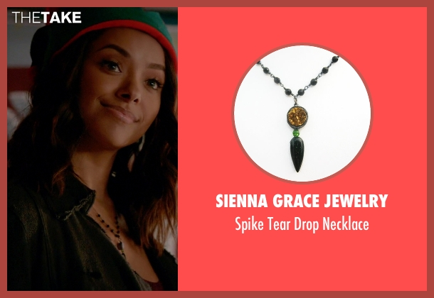 Sienna Grace Jewelry black necklace from The Vampire Diaries seen with Bonnie Bennett (Kat Graham)