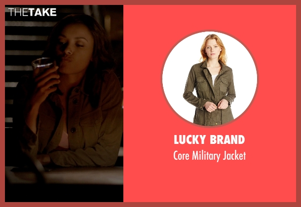 Lucky Brand brown jacket from The Vampire Diaries seen with Bonnie Bennett (Kat Graham)