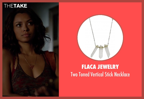 Flaca Jewelry gold necklace from The Vampire Diaries seen with Bonnie Bennett (Kat Graham)