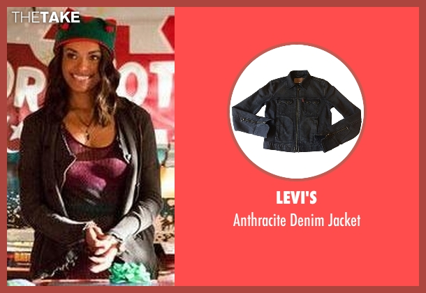 Levi's gray jacket from The Vampire Diaries seen with Bonnie Bennett (Kat Graham)