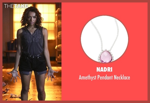 Nadri purple necklace from The Vampire Diaries seen with Bonnie Bennett (Kat Graham)