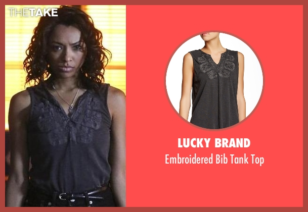 Lucky Brand purple top from The Vampire Diaries seen with Bonnie Bennett (Kat Graham)