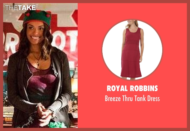 Royal Robbins red dress from The Vampire Diaries seen with Bonnie Bennett (Kat Graham)