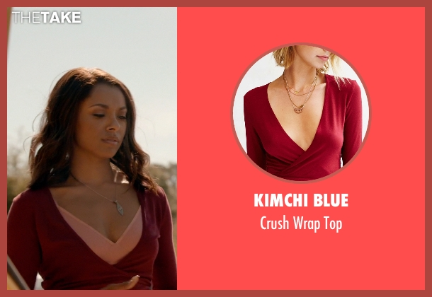Kimchi Blue red top from The Vampire Diaries seen with Bonnie Bennett (Kat Graham)