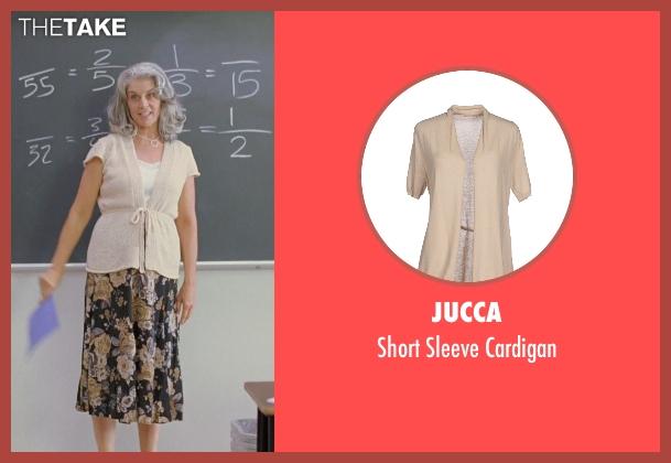 Jucca beige cardigan from Boyhood seen with Bonnie Cross (Teacher)