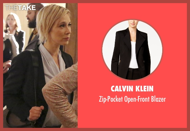 Calvin Klein black blazer from How To Get Away With Murder seen with Bonnie Winterbottom (Liza Weil)