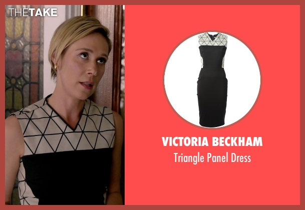 Victoria Beckham black dress from How To Get Away With Murder seen with Bonnie Winterbottom (Liza Weil)