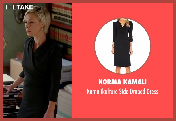 Norma Kamali black dress from How To Get Away With Murder seen with Bonnie Winterbottom (Liza Weil)