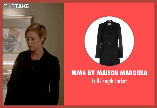 MM6 By Maison Margiela black jacket from How To Get Away With Murder seen with Bonnie Winterbottom (Liza Weil)