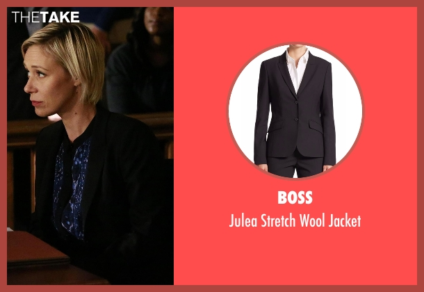 Boss black jacket from How To Get Away With Murder seen with Bonnie Winterbottom (Liza Weil)