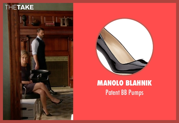 Manolo Blahnik black pumps from How To Get Away With Murder seen with Bonnie Winterbottom (Liza Weil)