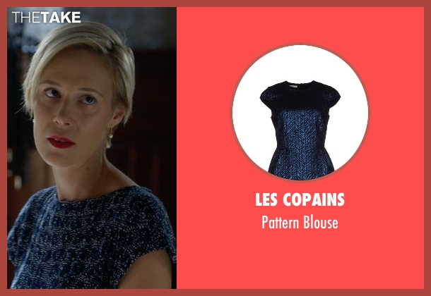Les Copains blue blouse from How To Get Away With Murder seen with Bonnie Winterbottom (Liza Weil)