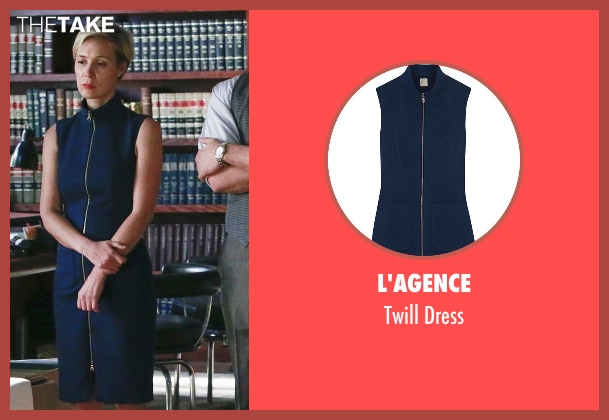 L'Agence blue dress from How To Get Away With Murder seen with Bonnie Winterbottom (Liza Weil)