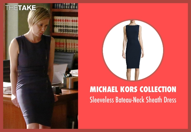 Michael Kors Collection blue dress from How To Get Away With Murder seen with Bonnie Winterbottom (Liza Weil)