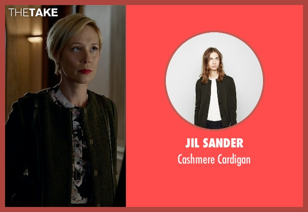 Jil Sander green cardigan from How To Get Away With Murder seen with Bonnie Winterbottom (Liza Weil)