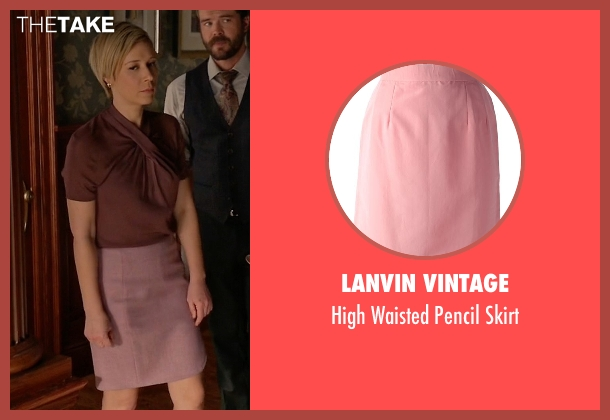 Lanvin Vintage pink skirt from How To Get Away With Murder seen with Bonnie Winterbottom (Liza Weil)
