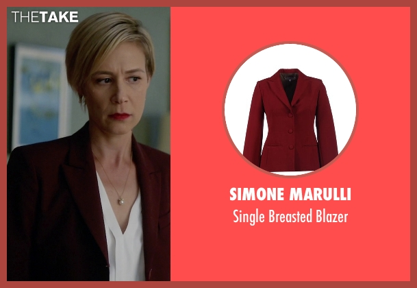 Simone Marulli red blazer from How To Get Away With Murder seen with Bonnie Winterbottom (Liza Weil)
