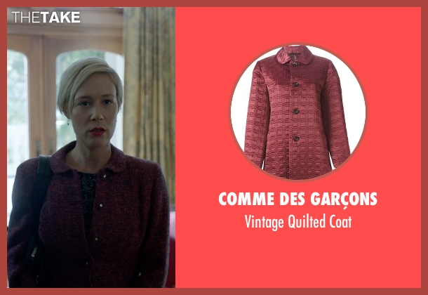 Comme Des Garçons red coat from How To Get Away With Murder seen with Bonnie Winterbottom (Liza Weil)