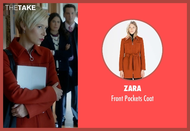 Zara red coat from How To Get Away With Murder seen with Bonnie Winterbottom (Liza Weil)