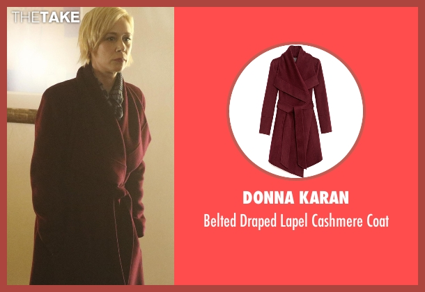 Donna Karan red coat from How To Get Away With Murder seen with Bonnie Winterbottom (Liza Weil)
