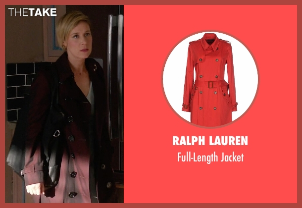 Ralph Lauren red jacket from How To Get Away With Murder seen with Bonnie Winterbottom (Liza Weil)