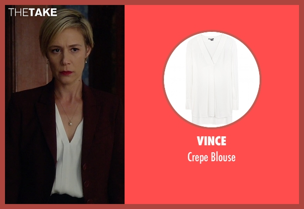 Vince white blouse from How To Get Away With Murder seen with Bonnie Winterbottom (Liza Weil)