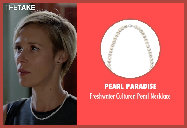 Pearl Paradise white necklace from How To Get Away With Murder seen with Bonnie Winterbottom (Liza Weil)