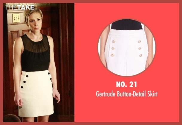 NO. 21 white skirt from How To Get Away With Murder seen with Bonnie Winterbottom (Liza Weil)