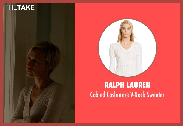 Ralph Lauren white sweater from How To Get Away With Murder seen with Bonnie Winterbottom (Liza Weil)