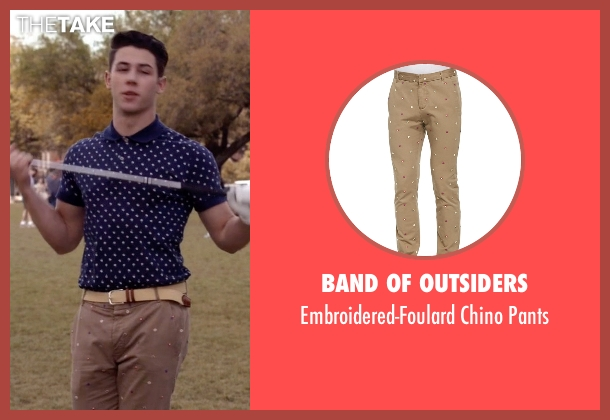 Band of Outsiders beige pants from Scream Queens seen with Boone (Nick Jonas)