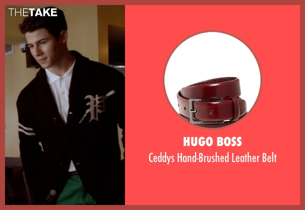 Hugo Boss red belt from Scream Queens seen with Boone (Nick Jonas)