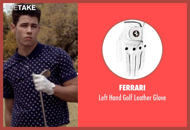 Ferrari white glove from Scream Queens seen with Boone (Nick Jonas)