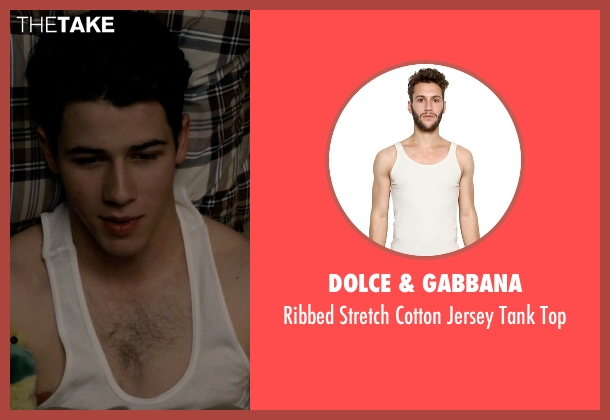 Dolce & Gabbana white top from Scream Queens seen with Boone (Nick Jonas)