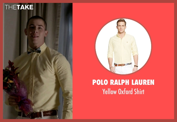 Polo Ralph Lauren yellow shirt from Scream Queens seen with Boone (Nick Jonas)