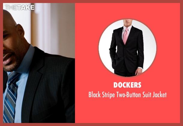 Dockers black jacket from Addicted seen with Boris Kodjoe (Jason Reynard)