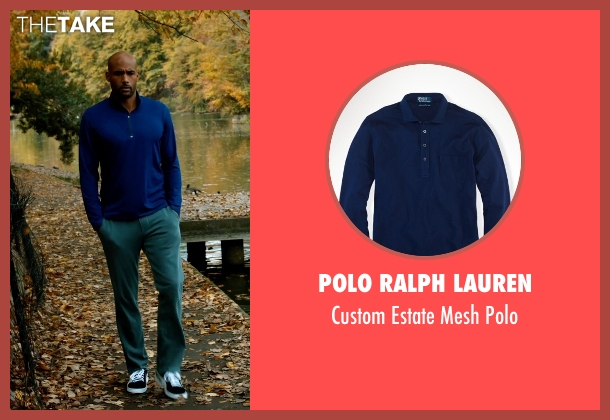Polo Ralph Lauren blue polo from Addicted seen with Boris Kodjoe (Jason Reynard)