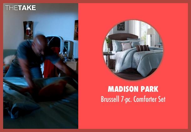 Madison Park blue set from Addicted seen with Boris Kodjoe (Jason Reynard)