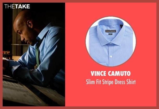 Vince Camuto blue shirt from Addicted seen with Boris Kodjoe (Jason Reynard)