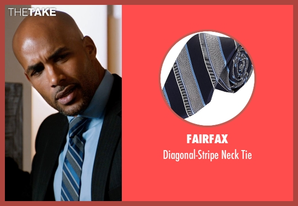 Fairfax blue tie from Addicted seen with Boris Kodjoe (Jason Reynard)