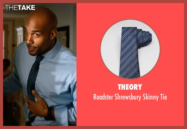 Theory blue tie from Addicted seen with Boris Kodjoe (Jason Reynard)