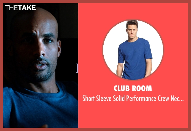 Club Room blue t-shirt from Addicted seen with Boris Kodjoe (Jason Reynard)