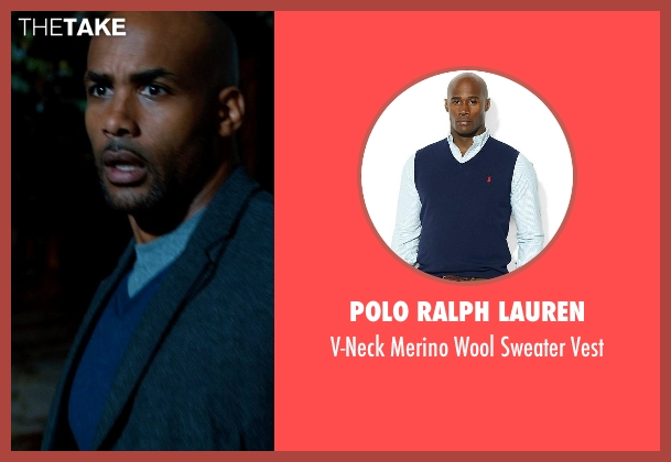 Polo Ralph Lauren blue vest from Addicted seen with Boris Kodjoe (Jason Reynard)