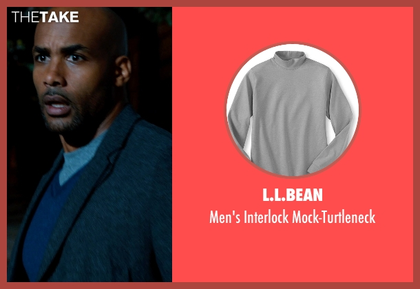 L.L.Bean gray mock-turtleneck from Addicted seen with Boris Kodjoe (Jason Reynard)