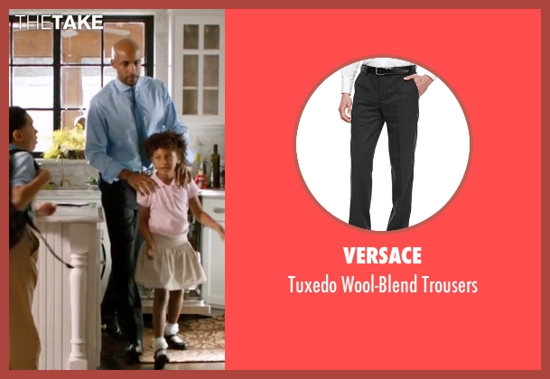 Versace gray trousers from Addicted seen with Boris Kodjoe (Jason Reynard)