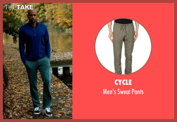 Cycle green pants from Addicted seen with Boris Kodjoe (Jason Reynard)