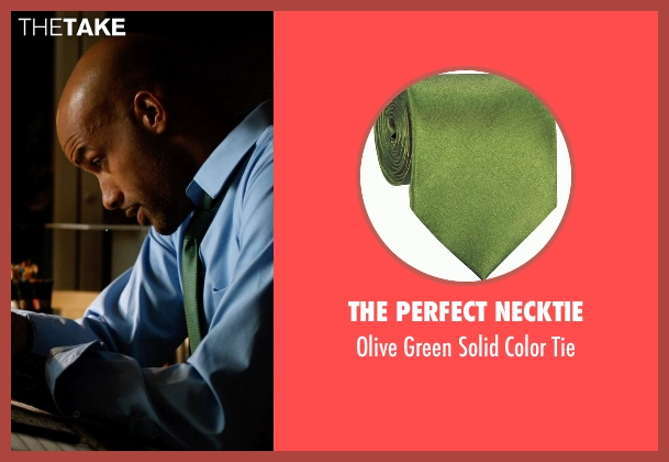 The Perfect Necktie green tie from Addicted seen with Boris Kodjoe (Jason Reynard)