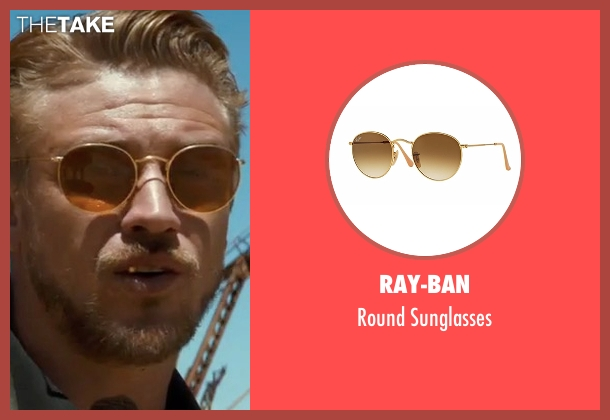 Ray-Ban gold sunglasses from Logan seen with Boyd Holbrook (Donald Pierce)