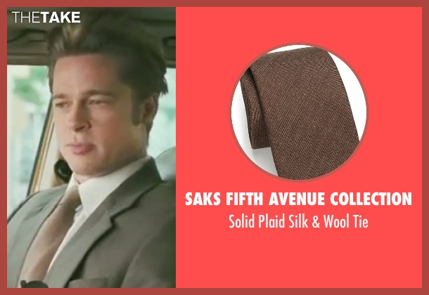 Saks Fifth Avenue Collection brown tie from Burn After Reading seen with Brad Pitt (Chad Feldheimer)
